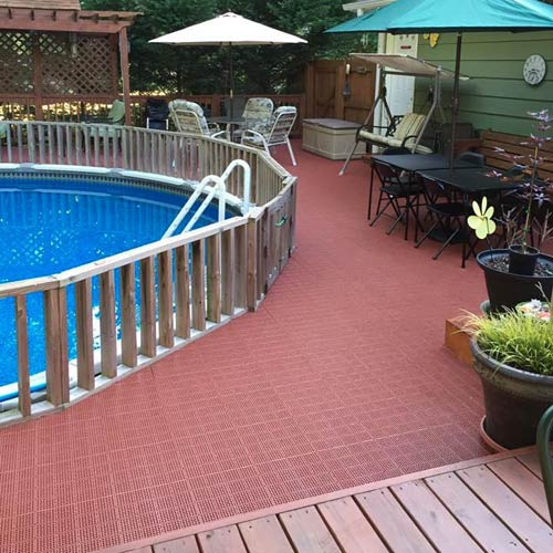 Greatmats Outdoor Patio Tile Pool Deck Terra Cotta Color