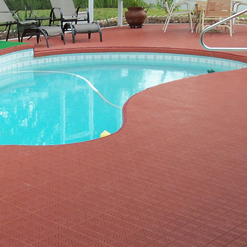 Greatmats Outdoor Patio Tile Pool Deck Tile Terra Cotta Color