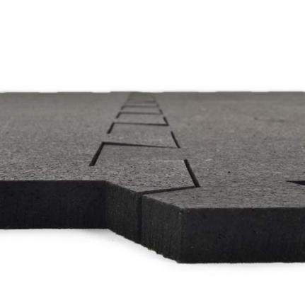 Greatmats Rubber Tile 1/2 Inch Black
