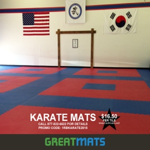 "These 1"" thick Karate tiles are made of high density PE and EVA foams and feature a smooth, leather-like surface."
