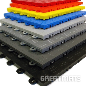 Greatmats Garage Floor Tile Diamond Colors
