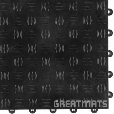 Greatmats black diamond floor tile garage