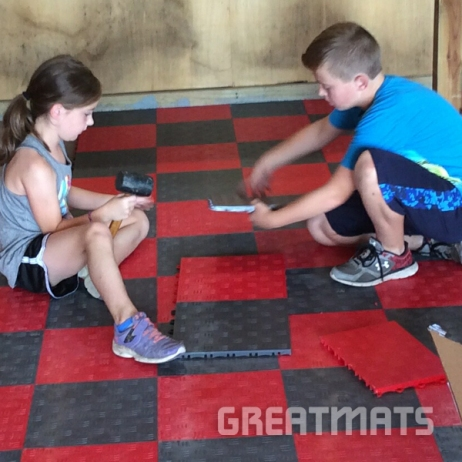 Greatmats snap together garage flooring easy installation