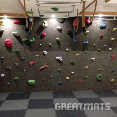 Greatmats Foam Sport Flooring Tiles Basement Rock Climbing Room