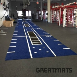 Greatmats V-Max Gym Turf Blue with Hashmarks