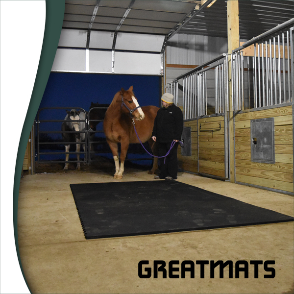 Pre-sized horse stall mat kits